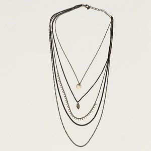 ✨2/$20 🍃Layered Gold & Black Necklace